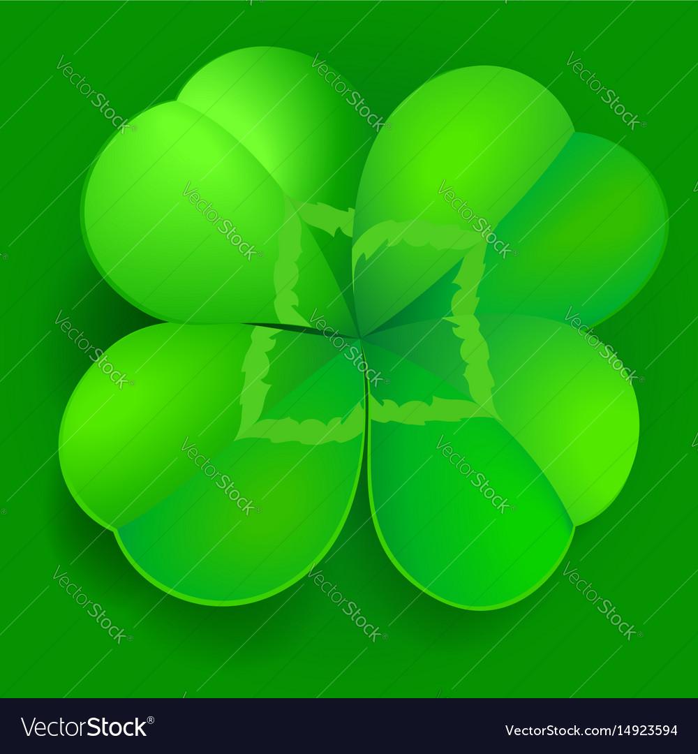 Shamrock trefoil or clover leaf irish symbol vector image shamrock trefoil or clover leaf irish symbol vector image biocorpaavc
