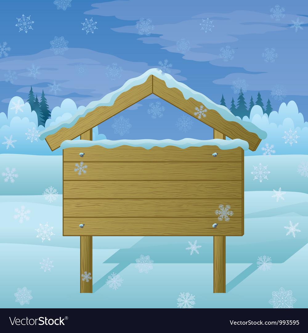 Winter landscape sign vector image