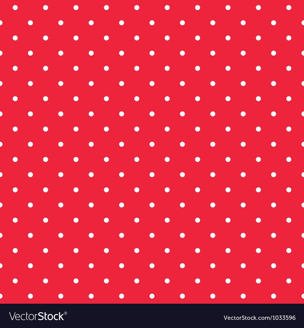 Red background seamless pattern with polka dots vector image