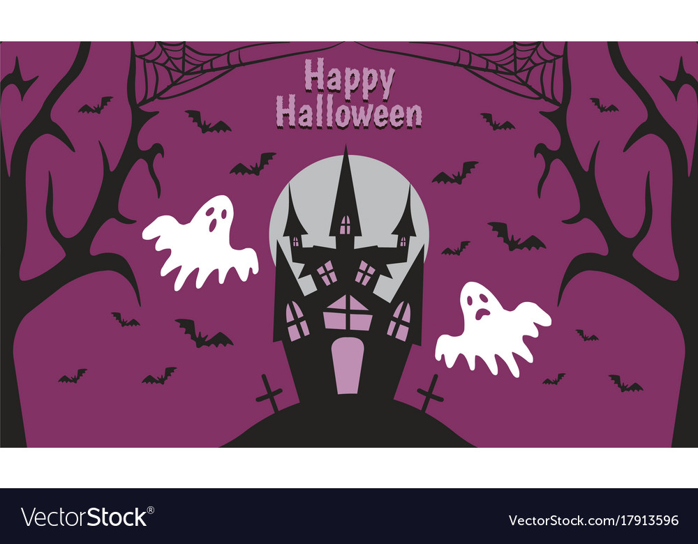 Lonely-spooky-castle-by-night vector image