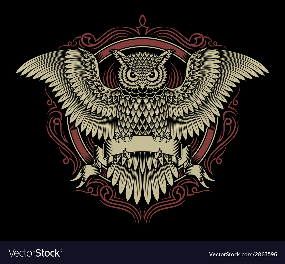 Owl crest vector image