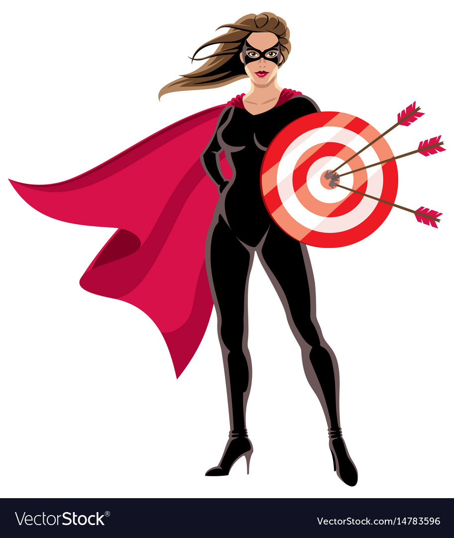 Super heroine target vector image