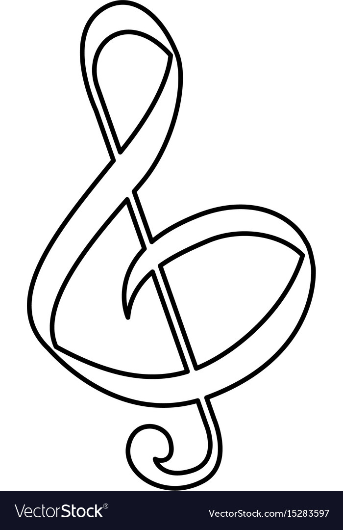 Music note symbol royalty free vector image vectorstock music note symbol vector image buycottarizona
