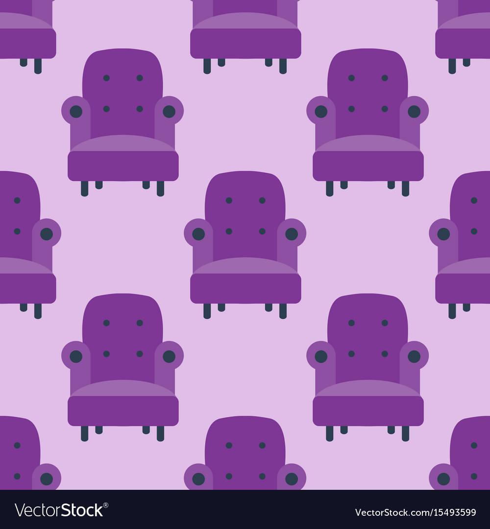 Purple color armchair modern designer chair vector image