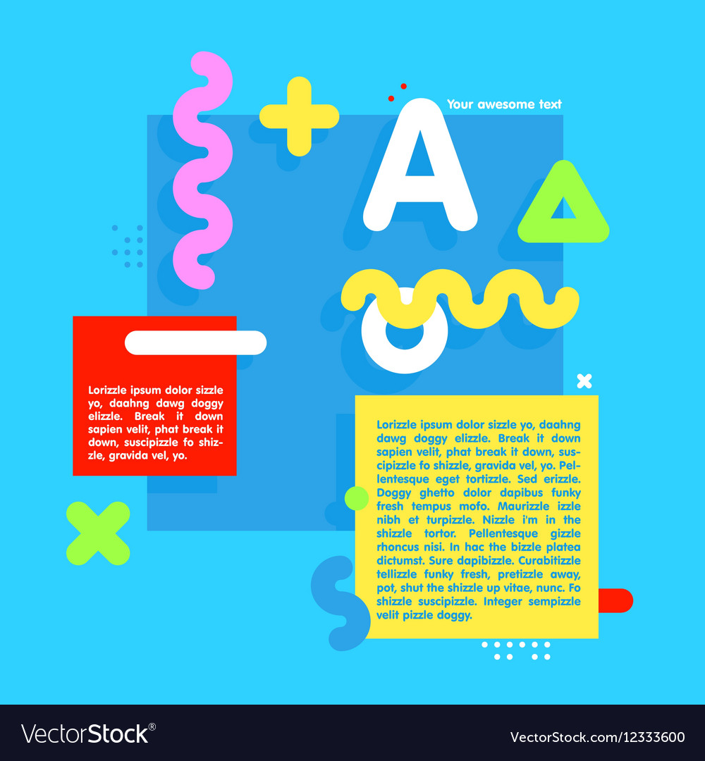 Square cartoon style banner infographic vector image