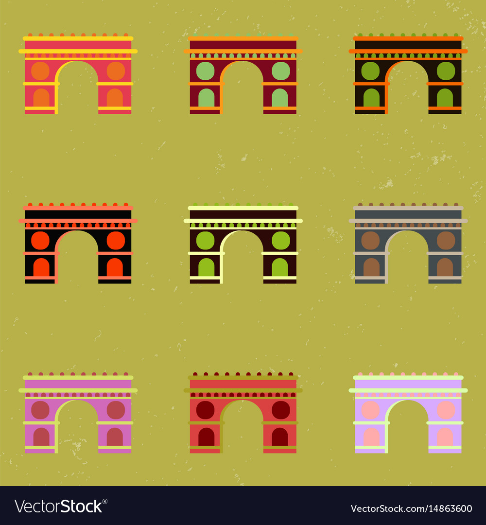Triumphal arch architecture collection