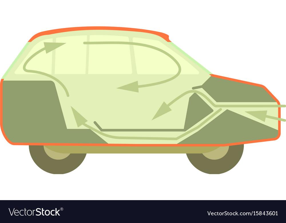 Car air ventilation icon cartoon style vector image