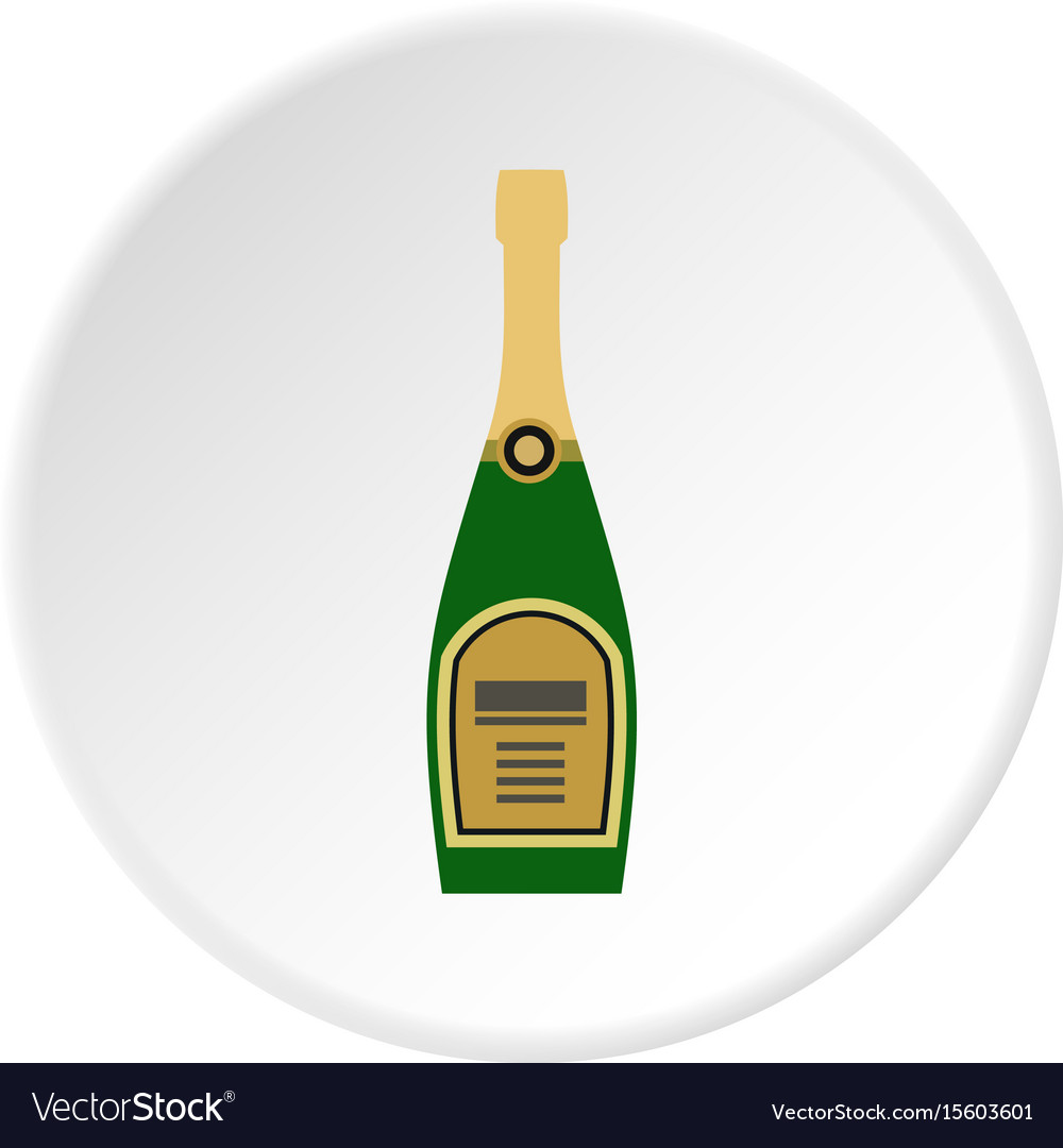 Champagne icon circle vector image