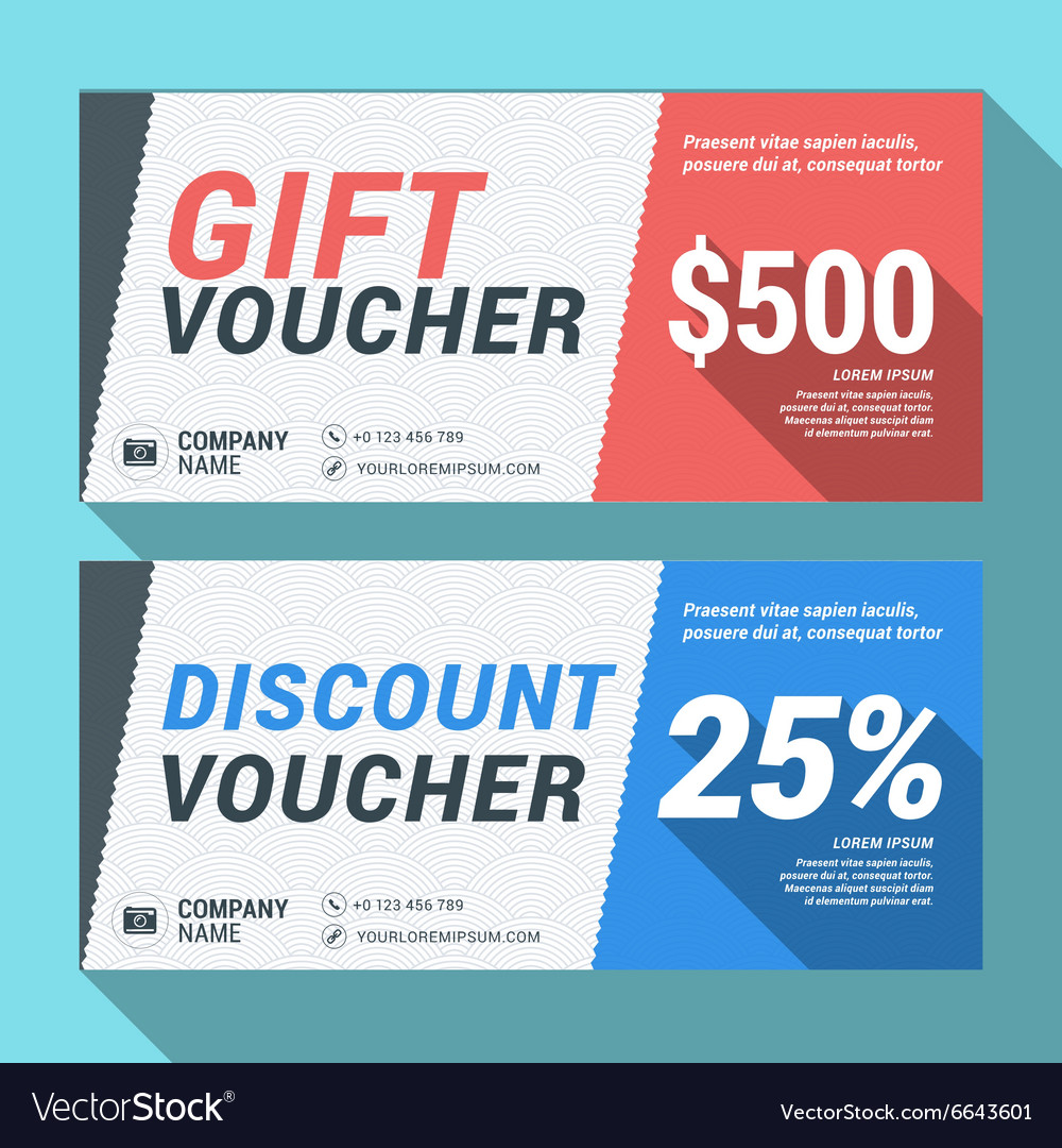 Gift and Discount Voucher Design Print Template Vector Image – Discount Voucher Design