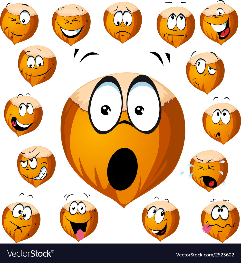 Hazelnut cartoon vector image