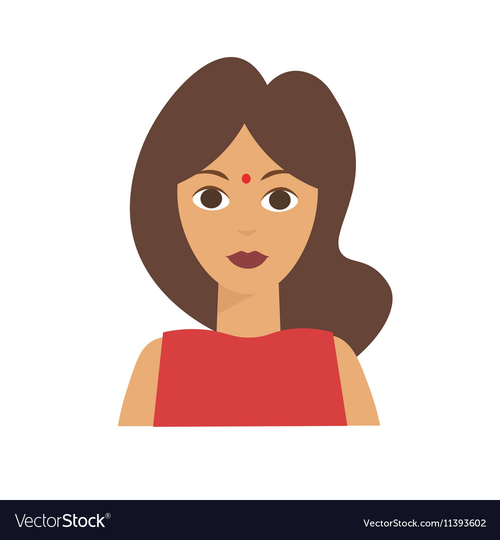 Indian Woman Flat vector image