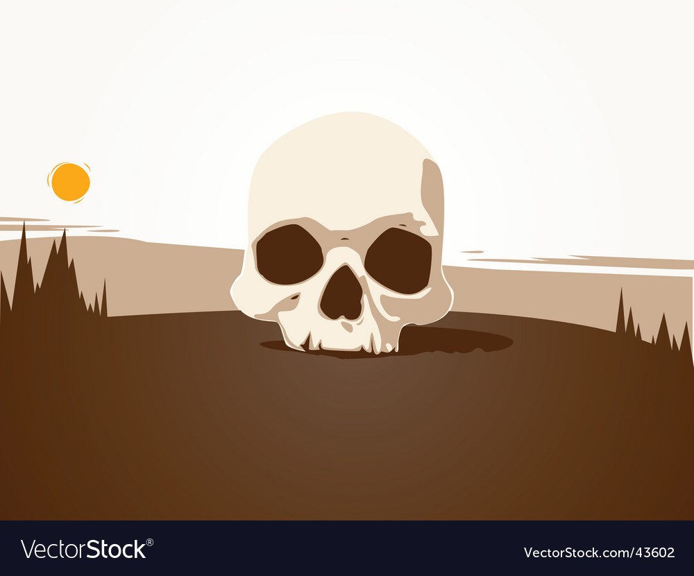 Loan skull illustration vector image