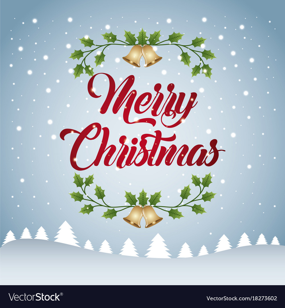 Merry christmas card greeting decoration vector image kristyandbryce Choice Image