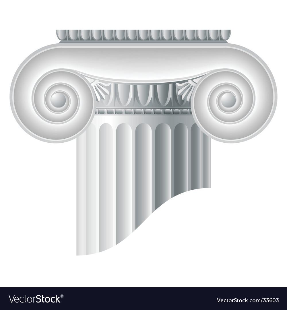 Ionic column vector image
