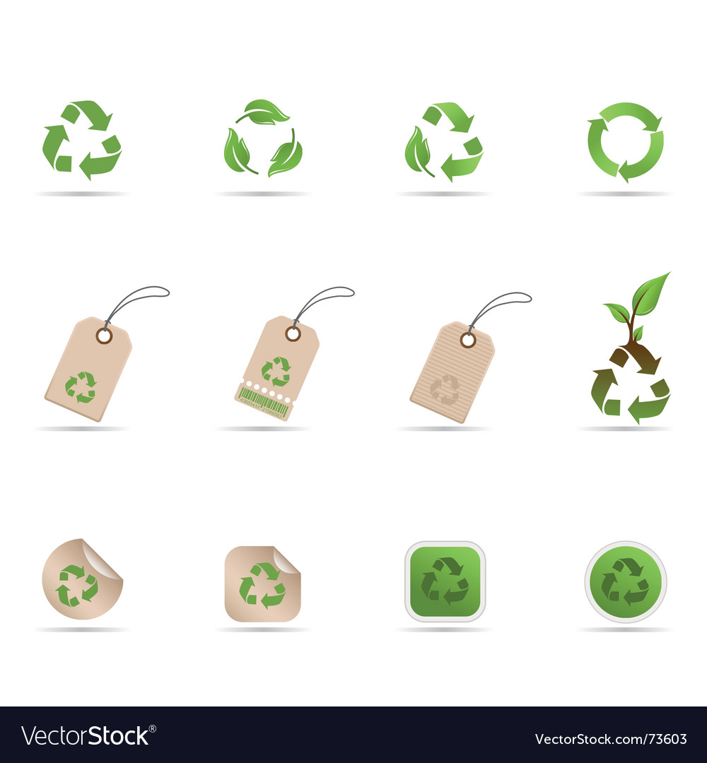 Recycling symbols vector image