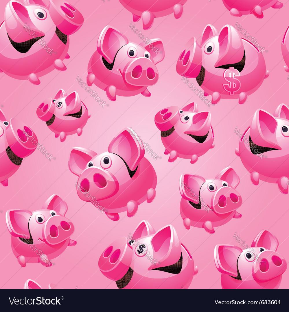 Piggy bank seamless vector image