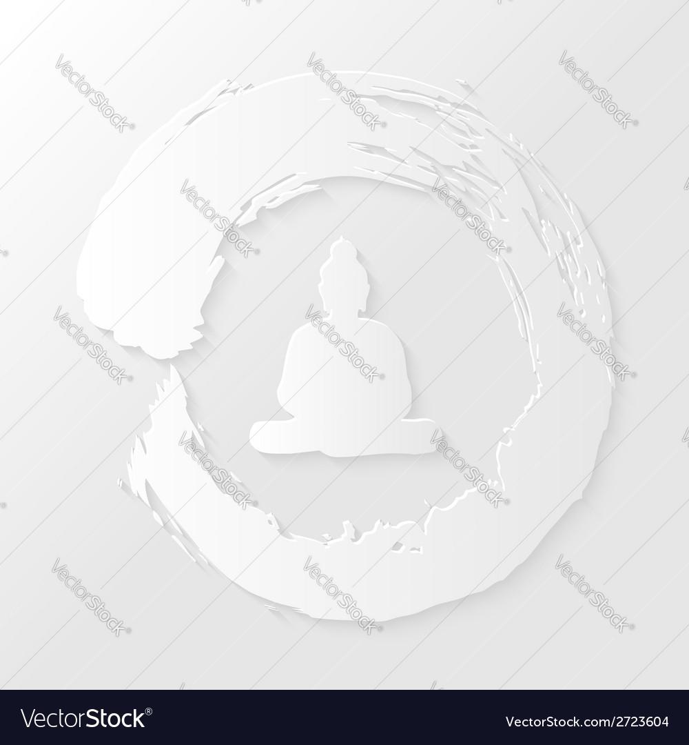 Zen circle and Buddha vector image
