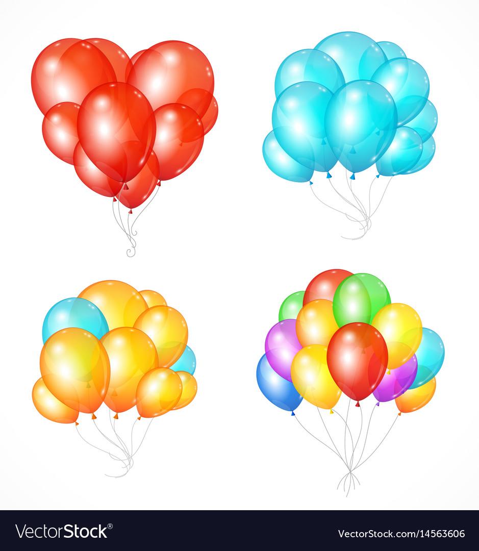 Realistic balloon set vector image