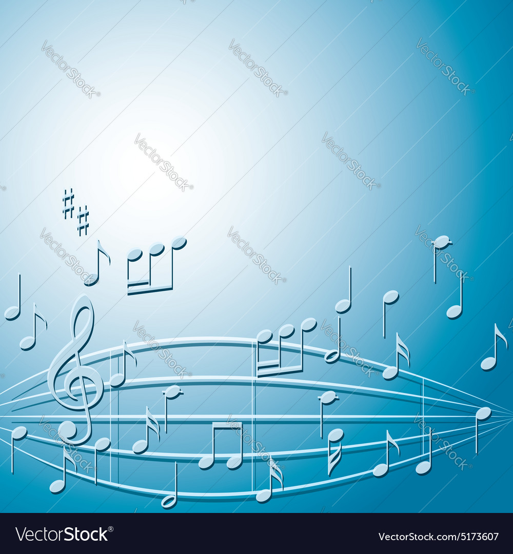 Blue And Green Music Notes