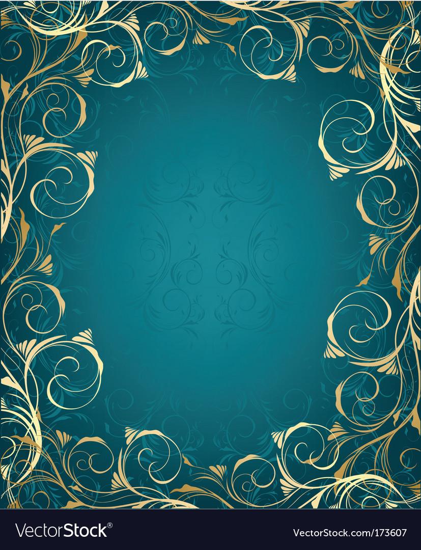 Ornate frame vector image