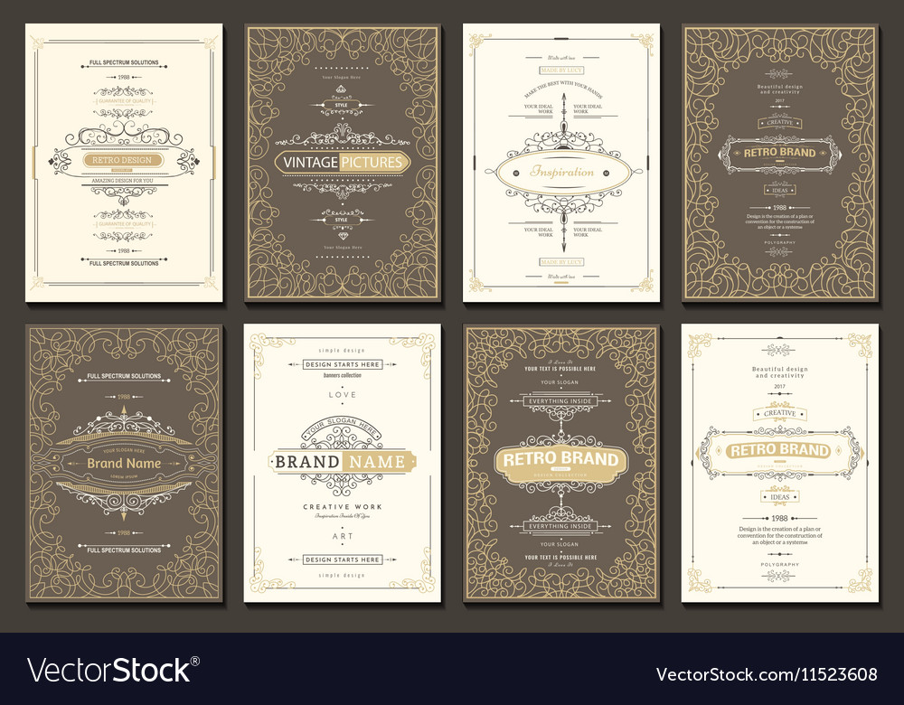 Creative cards vector image