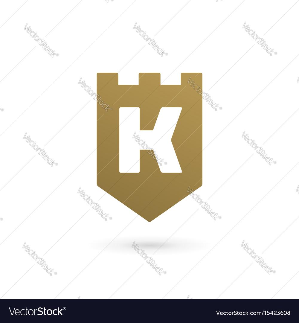 Letter k shield logo icon design template elements vector image