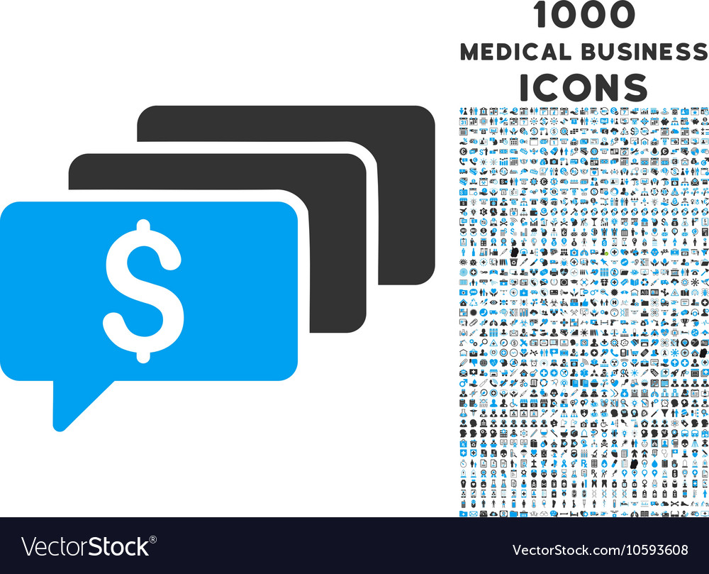 Money Messages Icon with 1000 Medical Business vector image