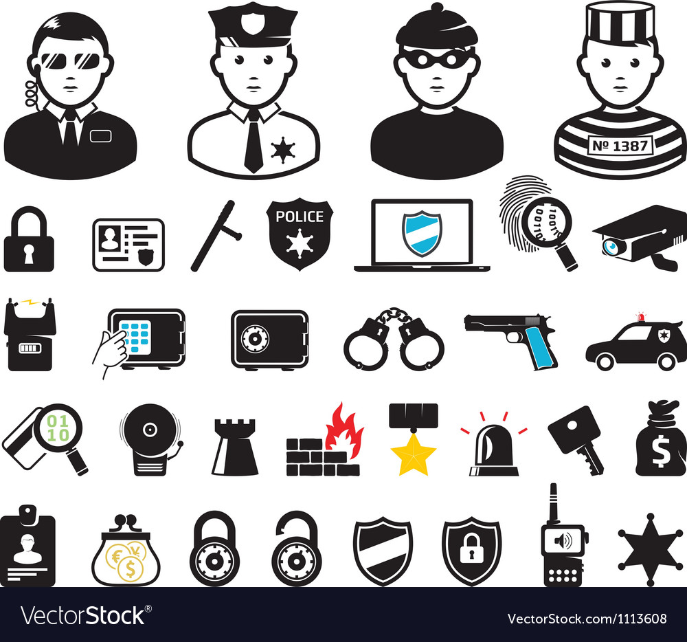 Security set vector image