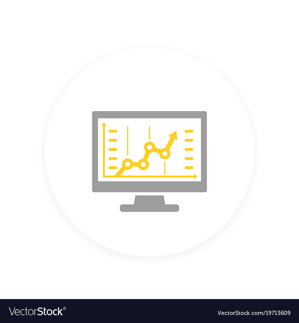 Analytics icon vector image