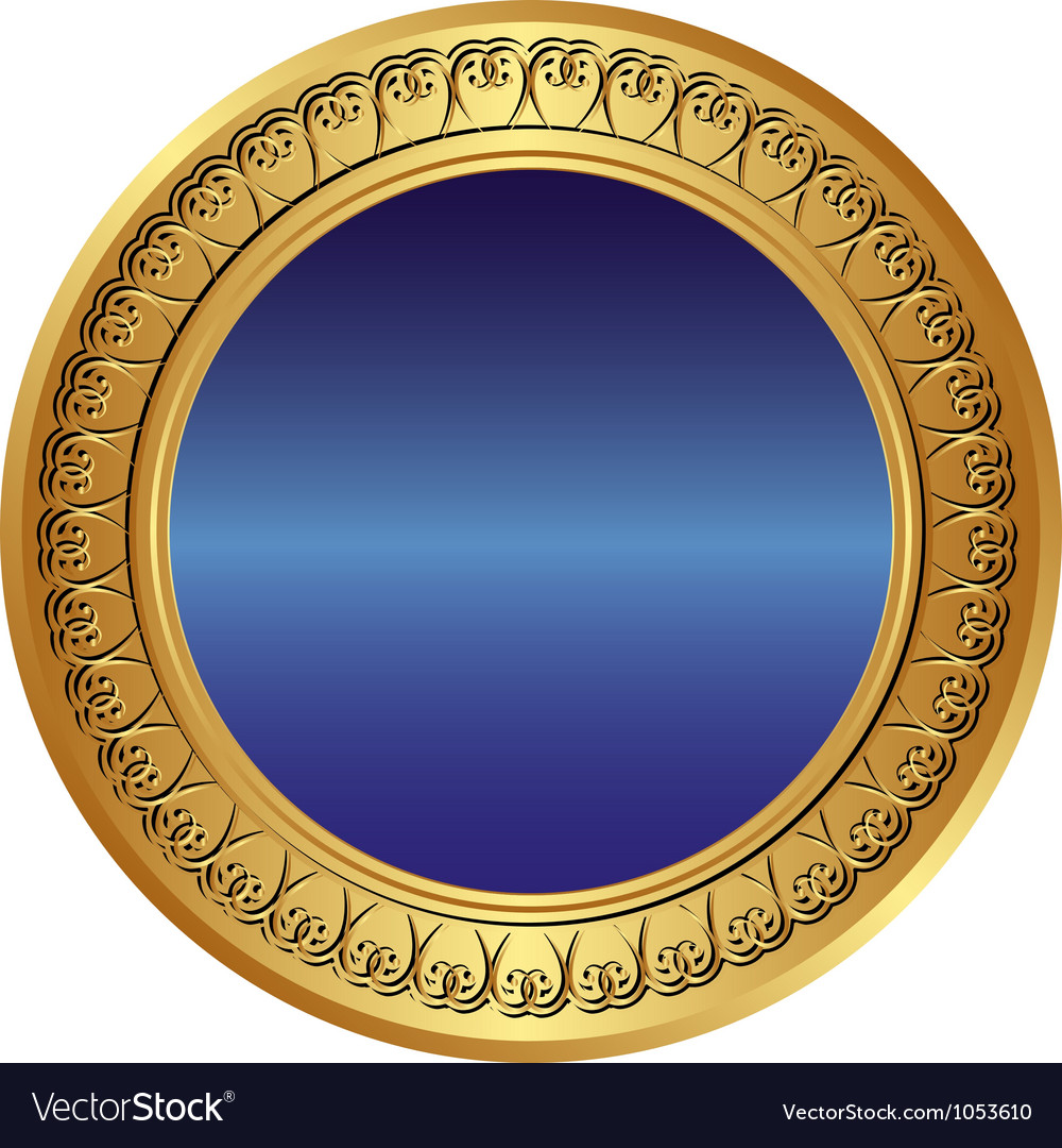 Gold and blue background vector image
