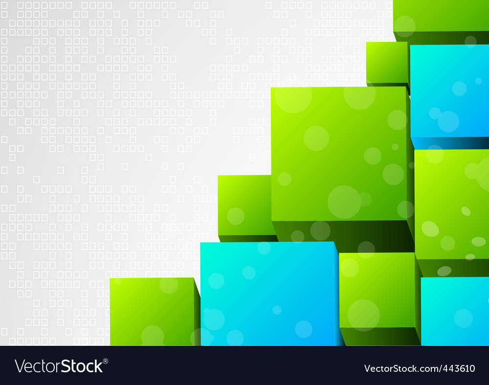 Abstract 3d background with block vector image