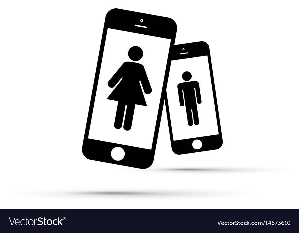 Dating app for men and women vector image