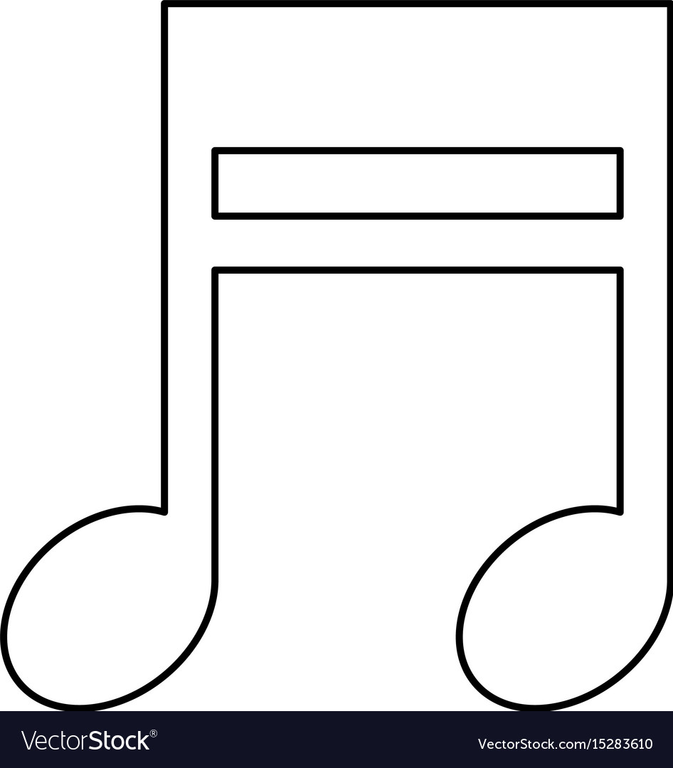 Music note symbol royalty free vector image vectorstock music note symbol vector image biocorpaavc