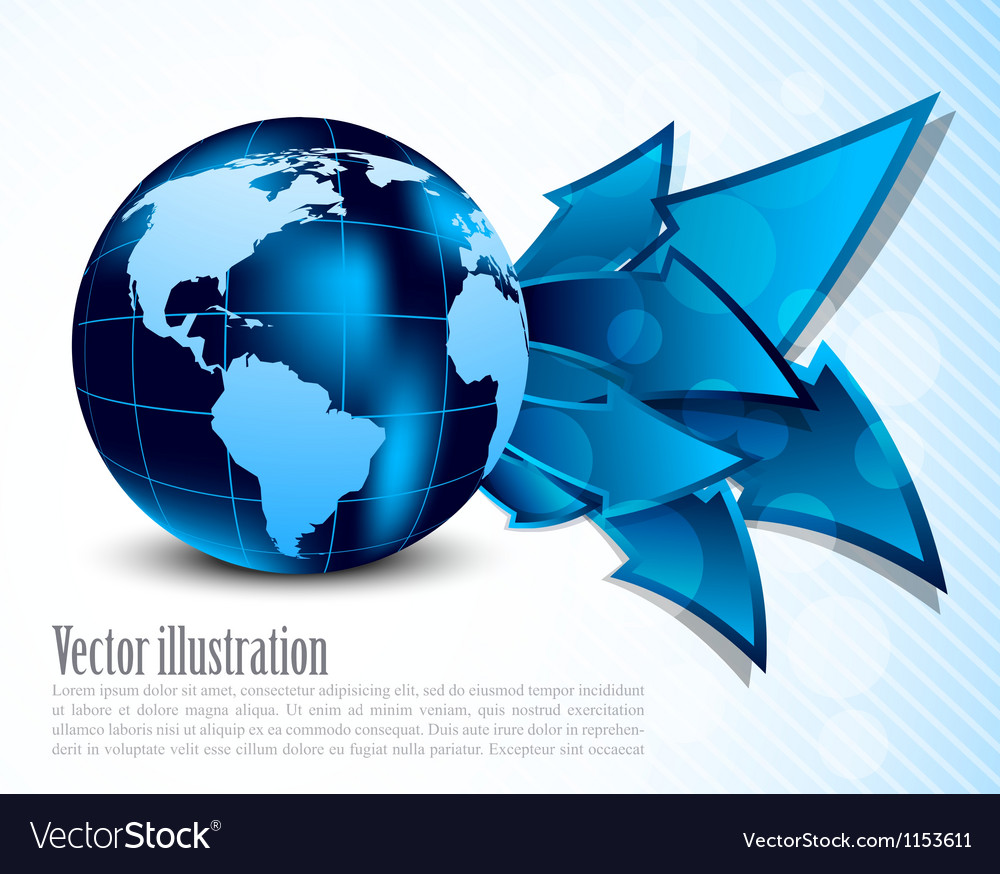 Abstract background with arrows vector image