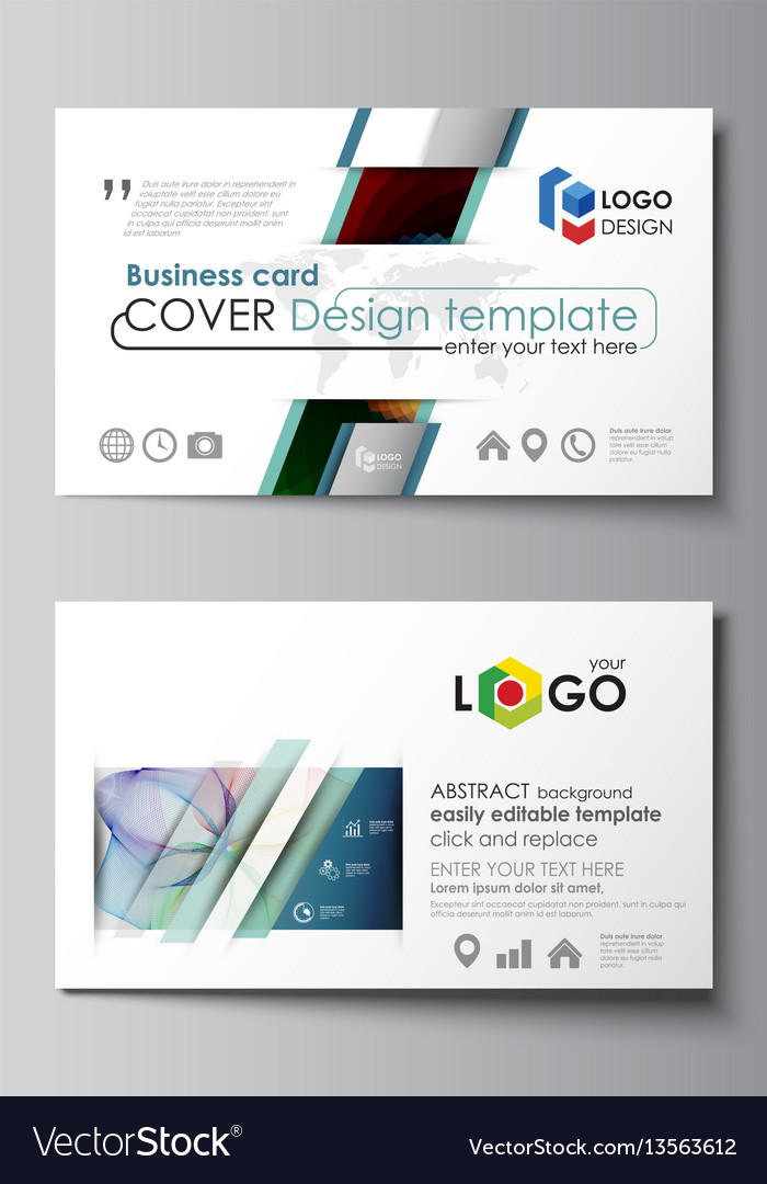 Business card templates easy editable layout vector image business card templates easy editable layout vector image reheart Image collections