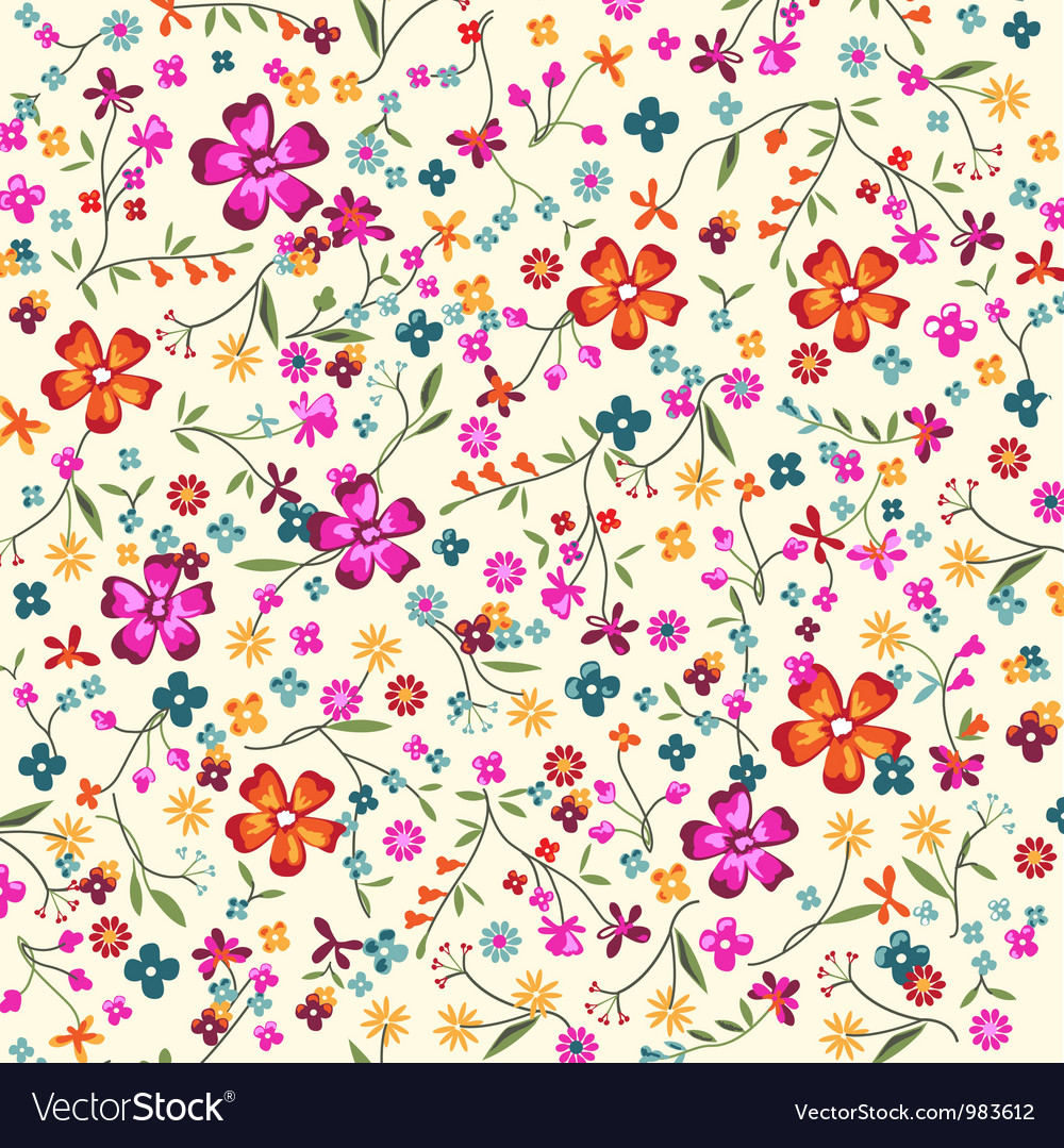 Ditsy floral vector image