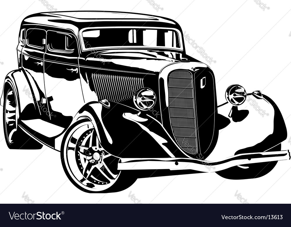 Retro-styled hotrod vector image