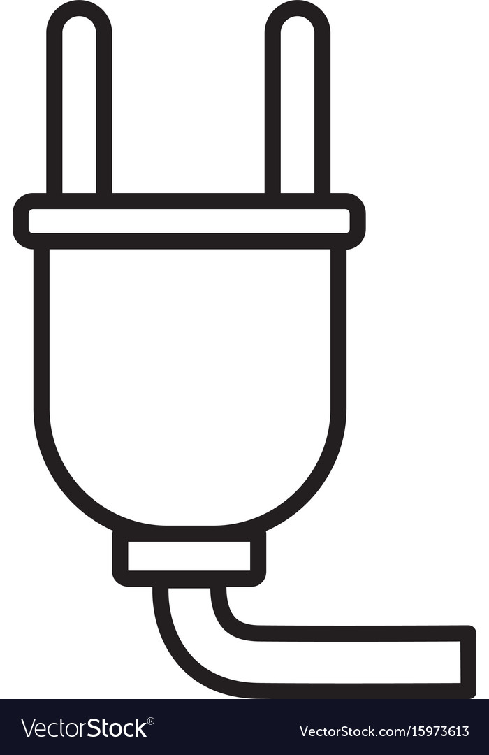 Thin line plugs icon vector image