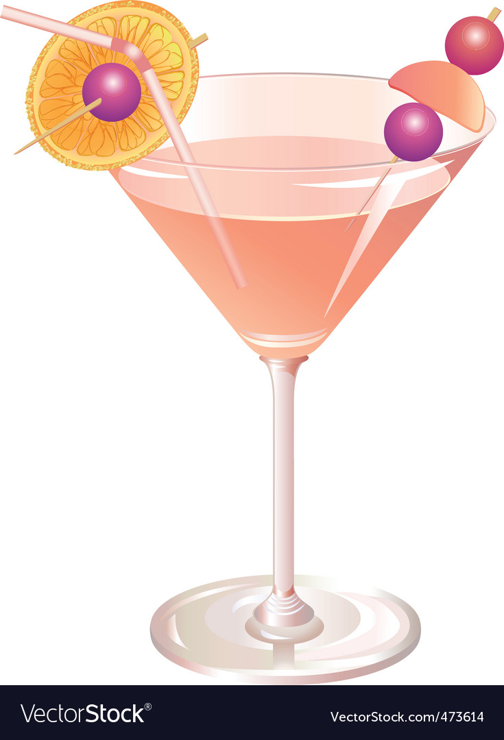 Cocktail drink Vector Image
