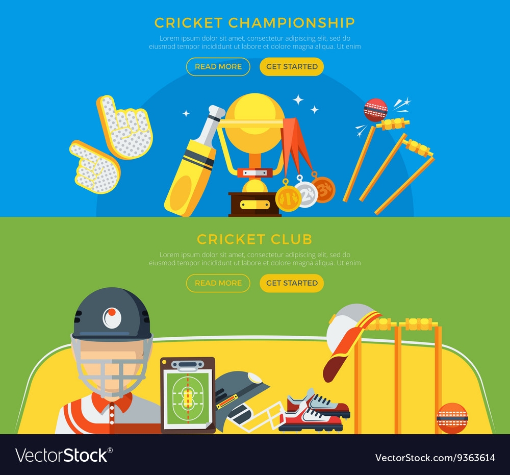 Cricket Club And Championship Banners vector image