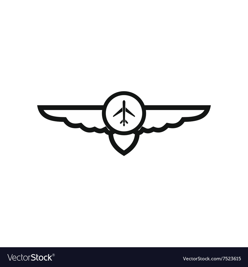 Sign of airplane with wings icon royalty free vector image sign of airplane with wings icon vector image buycottarizona Gallery