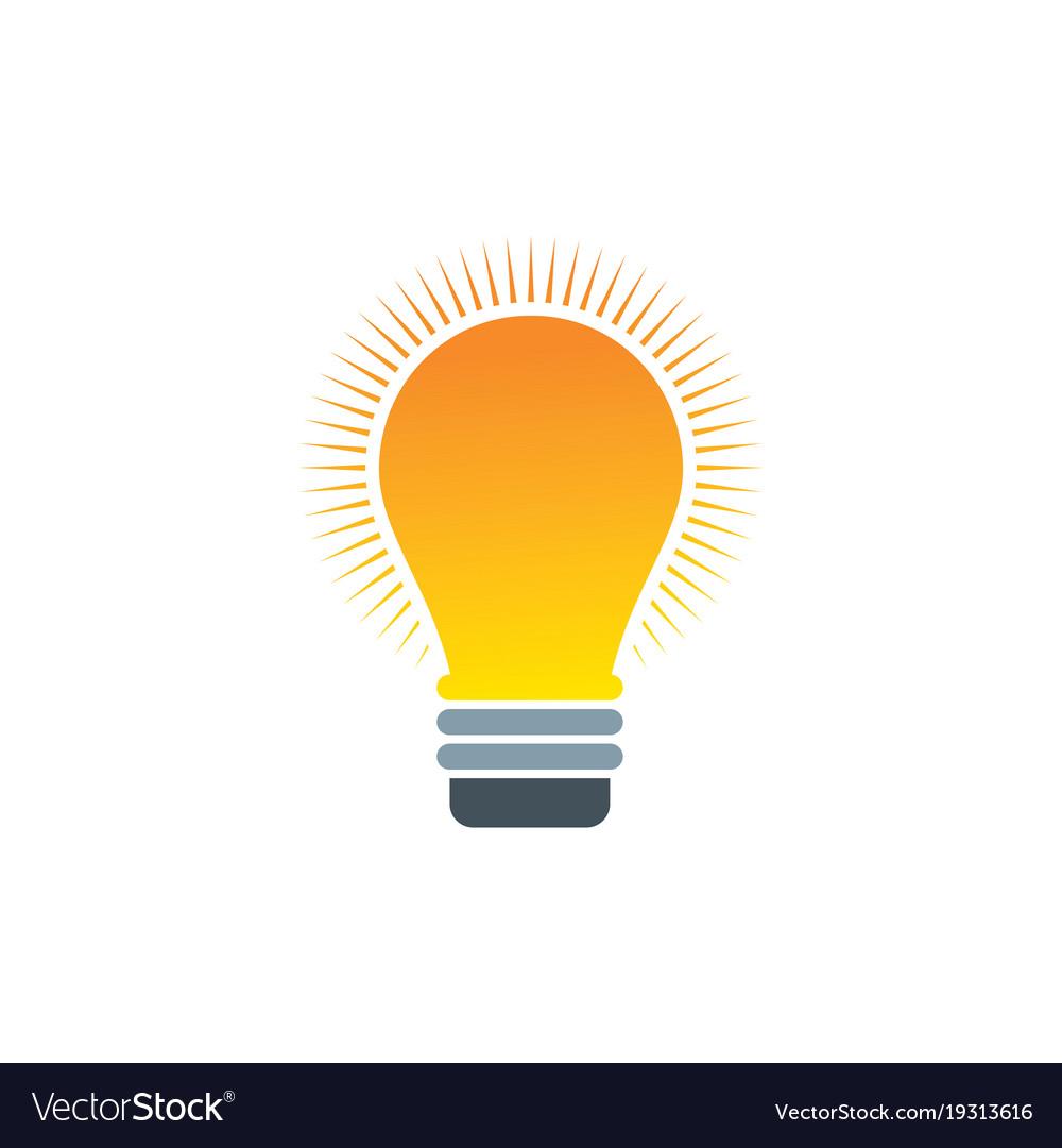 lightbulb logo royalty free vector image vectorstock