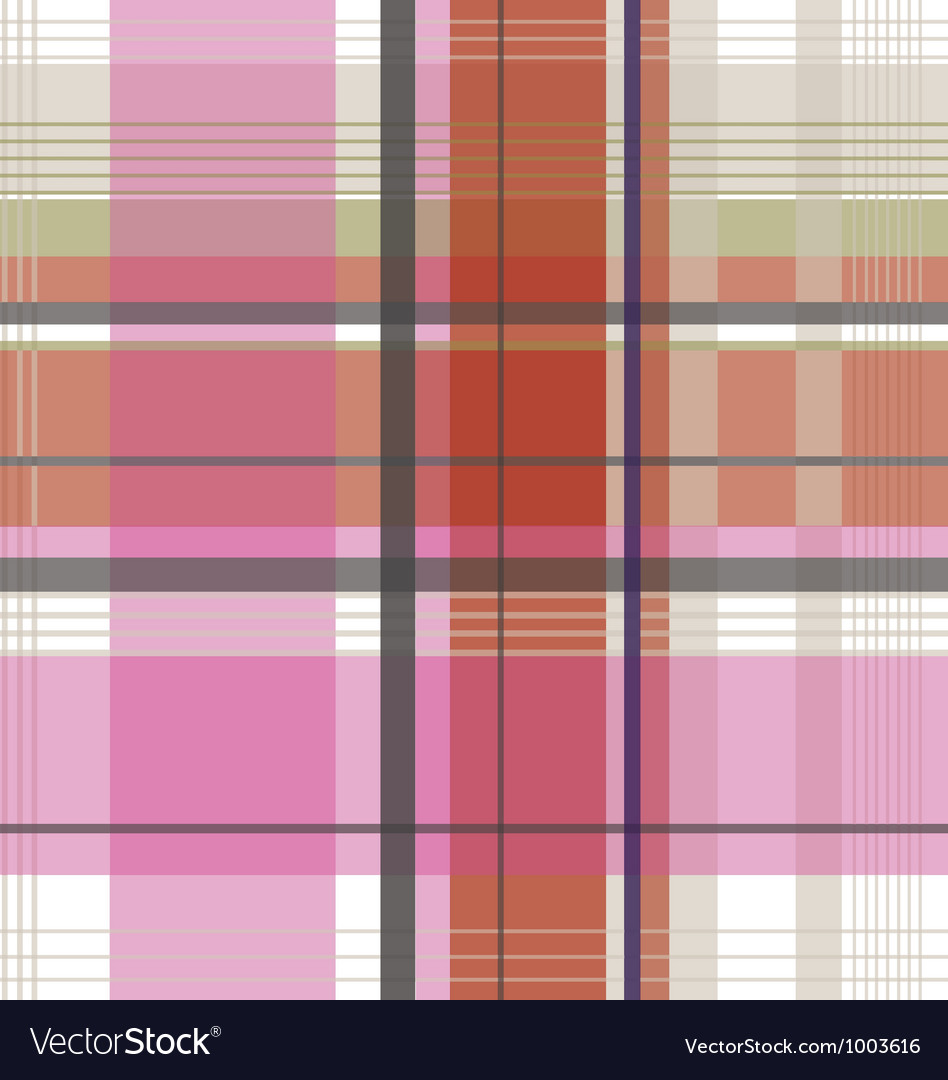 Plaid check fabric pattern vector image