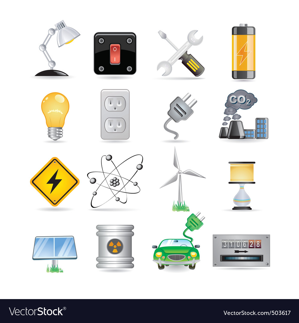 Electric set vector image