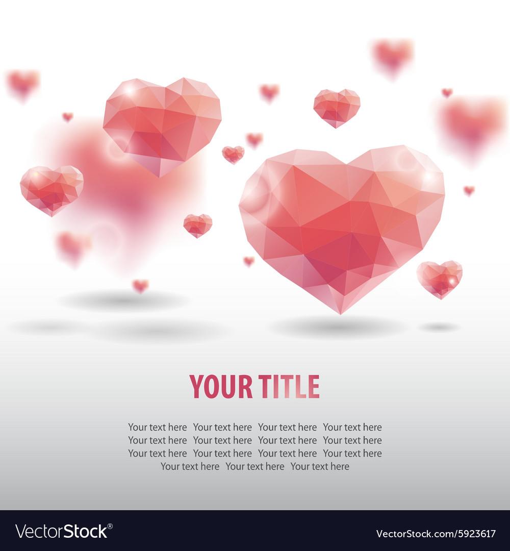 Geometric heart background vector image