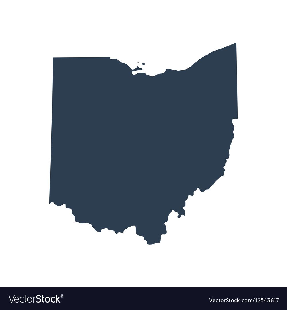 Map Of The US State Ohio Royalty Free Vector Image - Us map ohio