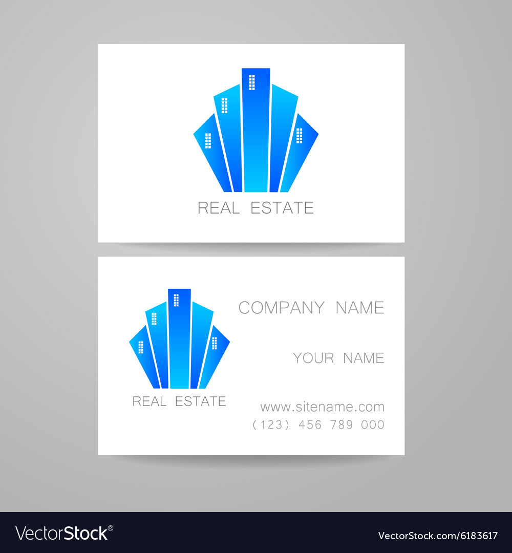 Real estate business card Royalty Free Vector Image