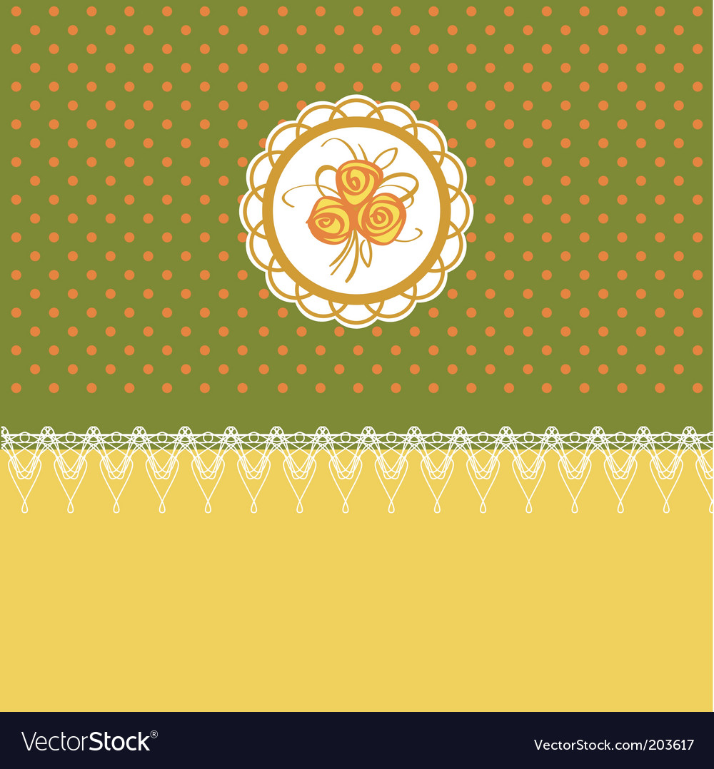 Retro floral design vector image