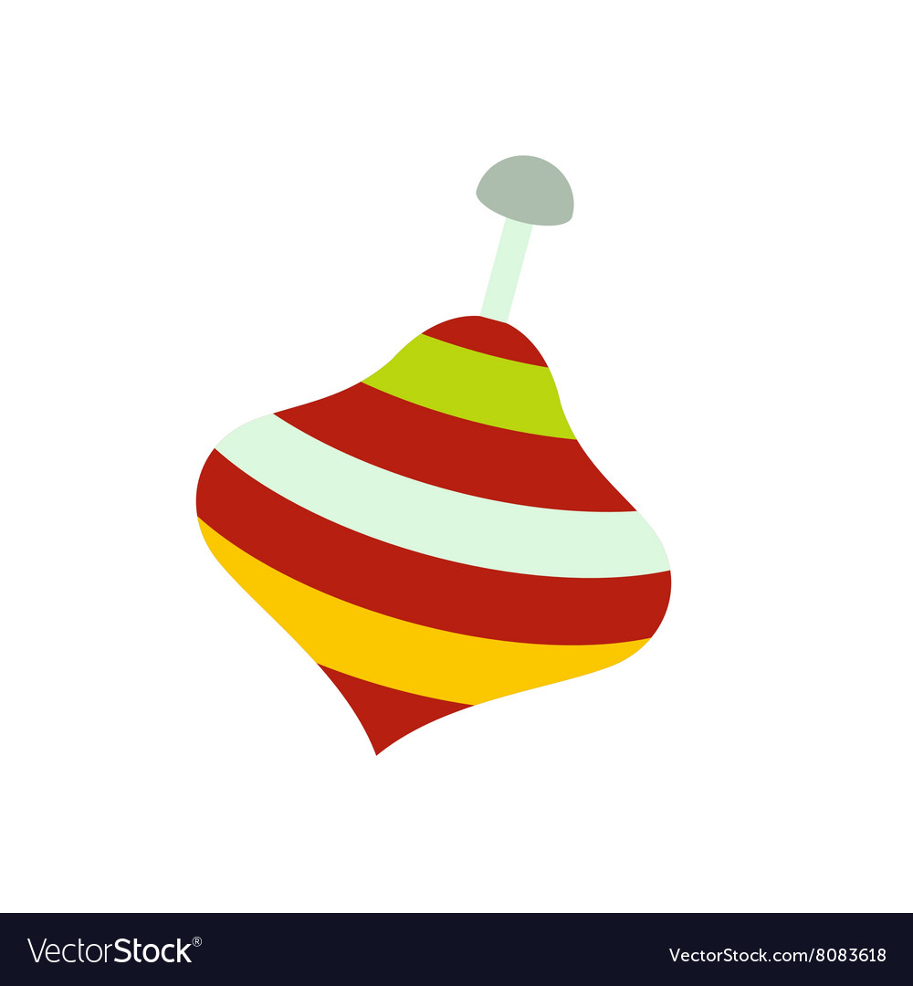Toy spinning top icon vector image