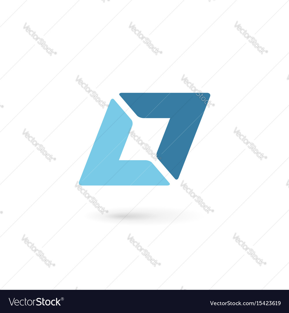Abstract logo icon with letter l design template Vector Image
